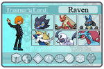 Raven Pokemon Trainer Card by FrostRaven32