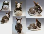 Pet Bunny Plush Portrait by WhittyKitty