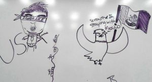 Whiteboard Doodle #2 EAGLE(birb) by Takis-sama