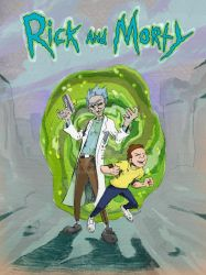 Rick and Morty by woodnone