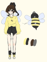 Simple Bee Baby Adopt CLOSED by NeonCandyLights