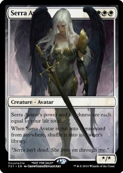 Magic the Gathering - Serra Avatar (Spill) by ASliceOfUnagi