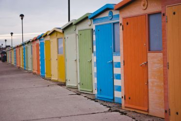 Beach huts by Alomie