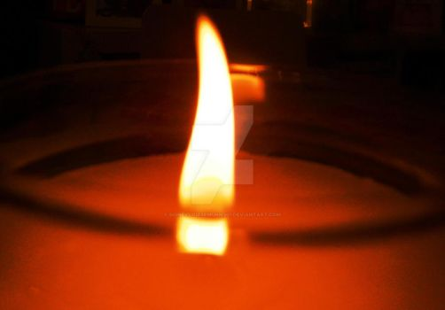 Flamed Candle by SidneyLouiseMunns01