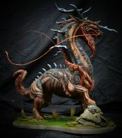 Painted Kirin Sculpture 1 by LucidDesignFX