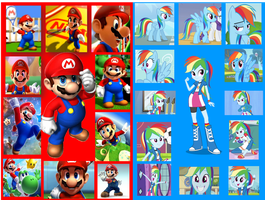 Mario And Rainbow Dash Wallpaper by DANIOTHEMAN