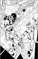 Spider-man Homecoming inks by CrimeRoyale
