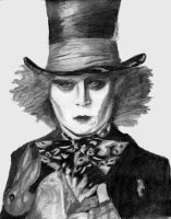 Johnny Depp as the Mad Hatter by BlueRose41