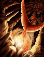 Greater Cavern Phoenix by maggock
