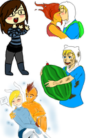 Adventure Time Doodles by TalinaXII15