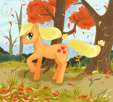 Autumn Stroll with AJ by amaiawa