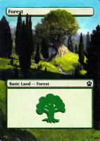 Altered Theros Forest by Serafiend