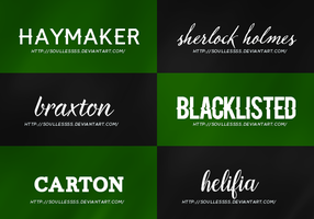 Font Pack 1 by theoutlandish