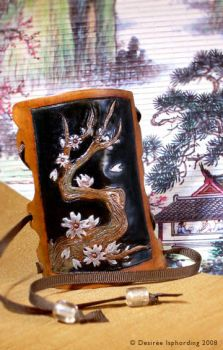 Blossoms + Black Lacquer by phee-adornments