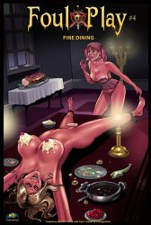 FOUL PLAY #4: FINE DINING Cover Art! by MTJpub