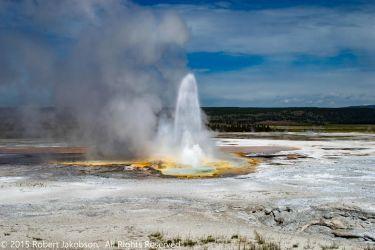 Geyser Yellowstone by rjakobson