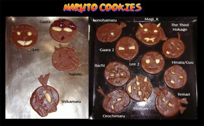 Naruto Cookies by Magi-K
