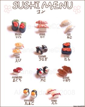 Sushi Menu by Akane-Idane