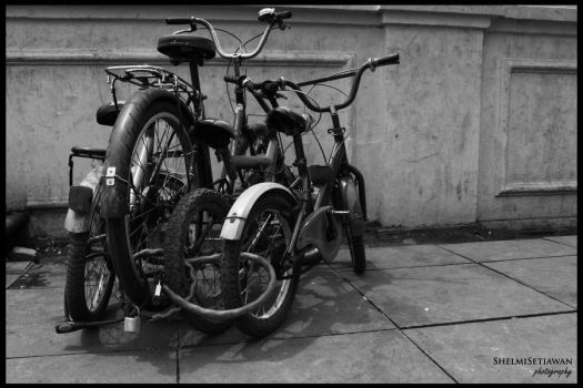 Four Bicycles by shelmisetiawan