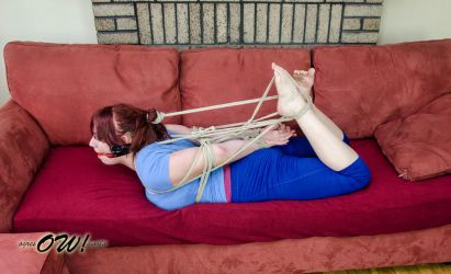 Hogtie in stretch pants. by OgresWorld