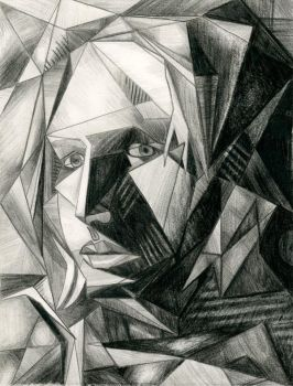 Self Portrait--Cubist by Melaninny