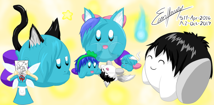 A Cute family of puffs by Evan-Harrey