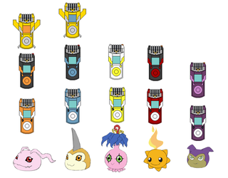 Digimon CDX Digivice and In Training Digimon by coleroboman
