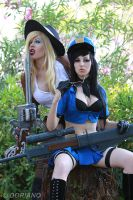 Officer Caitlyn and Cowgirl MF - League of Legends by Megutan