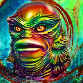Creature from the black lagoon by Naomian