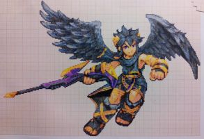 Pixel art Super smash bros: Dark Pit by PaintPixelArt