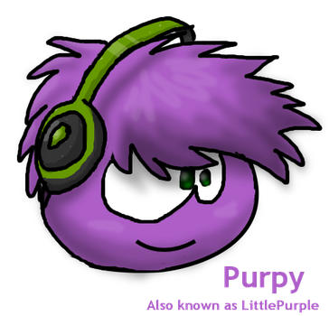 Purpy the purple puffle by Magdaneela