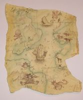 pirate treasure map 2 by HOMELYVILLAIN