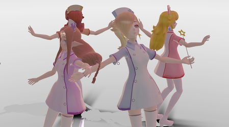 [MMD] Nintendo Nurses (NO MORE DOWNLOAD) by Luna2528CP