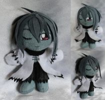 Commission, Mini Plushie Helmy Moritz by ThePlushieLady