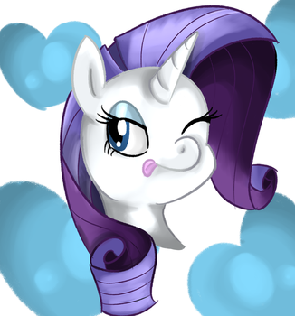 A little portrait of Rarity by SoulRainbow