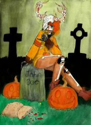 Trick or Treat (theHappyLandFill contest entry) by RainyDayMariah