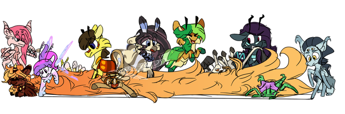 o noes the floof is taking over by Owl-Feather27