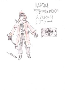 David Throndike During arkham city by Inquisitorchris1