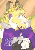 flower crown asgore by dongoverlord