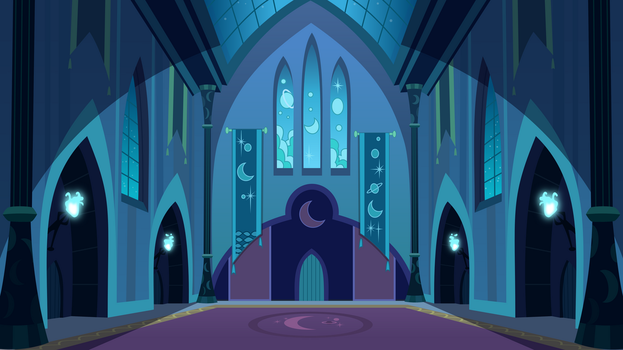Inside Nightmare Moon's Castle by Drakizora
