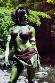 Warcraft Orc Bodypaint #2 by MandaCowled