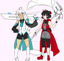 The Schnee-Branwen Twins by Abominableve
