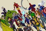 Avengers By J  Scott Campbell - Flats by ismartal