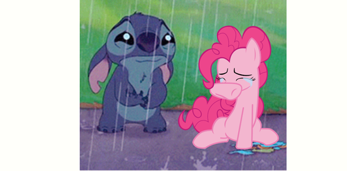 Stitch and Pinkie crying by TheCartoonWizard