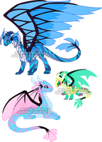 Brisinga Dragon adoptables1 by Sakuyamon
