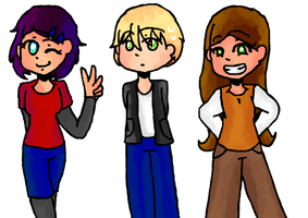HTS - Geeky friends doing geeky stuff by Dorydraws