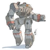 Battletech Crusader by shinypants