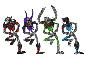 Spooky Scary Bonkle Skeletons by IrrationallyRational