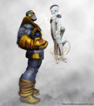 Thanos and Freeza by wellbruno