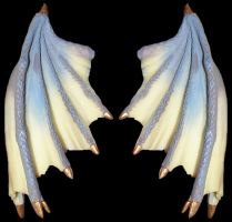 Blue Ivory Dragon Talons Wings by FantasyStock